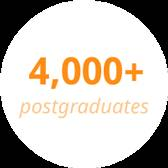 4000 plus postgraduates